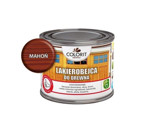 Colorit Lakierobejca Drewna 375ml MAHOŃ szybkoschnąca satynowa farba do