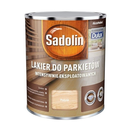 Sadolin Lakier Diamond POŁYSK 0,75L parkietu Dulux drewna intensywnie eksploatowanych