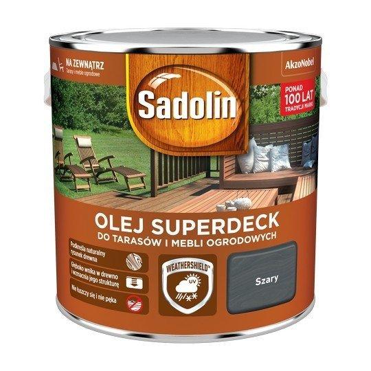 Sadolin Superdeck olej 2,5L SZARY tarasów drewna do