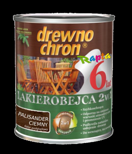 Drewnochron 2w1 Lakierobejca PALISANDER CIE 2,5L CIEMNY drewna do