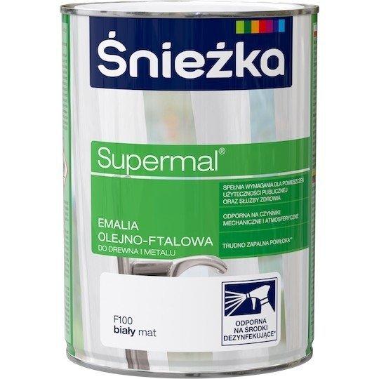 Śnieżka Emalia Olejna BIAŁY MAT F100 0,8L farba ftalowa Supermal