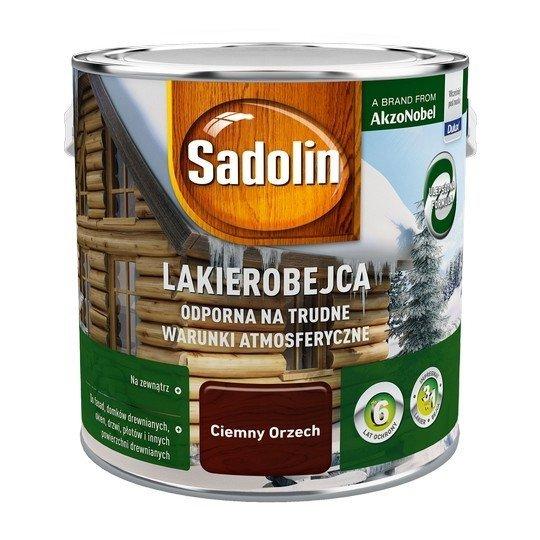 Sadolin Odporna lakierobejca 2,5L ORZECH CIEMNY drewna
