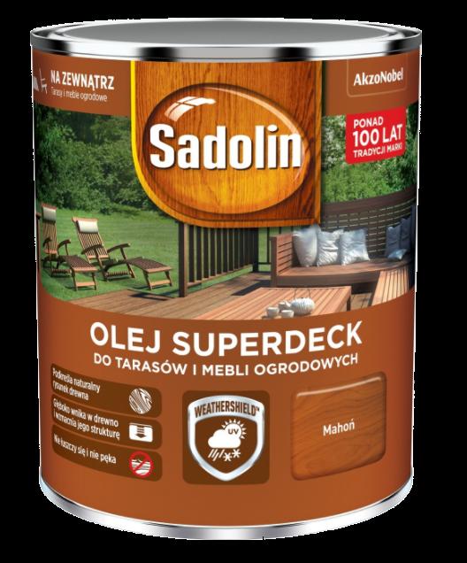 Sadolin Superdeck olej 0,75L MAHOŃ 75 tarasów drewna do