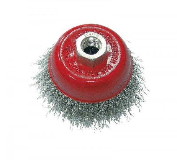 Szczotka druciana doczołowa śr. 75 mm drut falowany gwint 32507  PROLINE