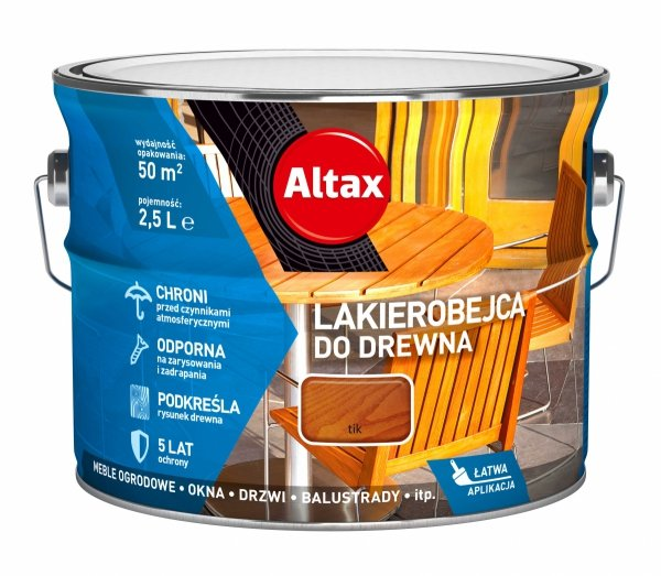 Altax Lakierobejca Drewna 2,5L TIK TEAK TEK niebieska
