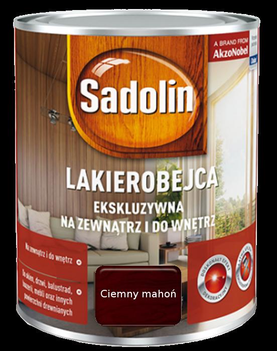 Sadolin Ekskluzywna lakierobejca 0,75L MAHOŃ CIEMNY drewna