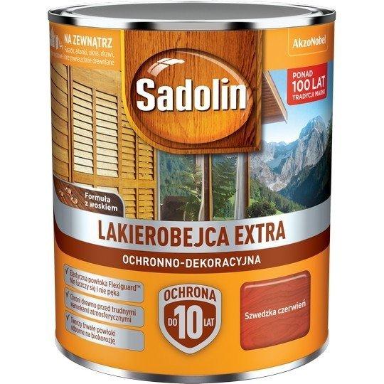 Sadolin Extra lakierobejca 0,75L CZERWIEŃ SZWEDZKA 98 drewna