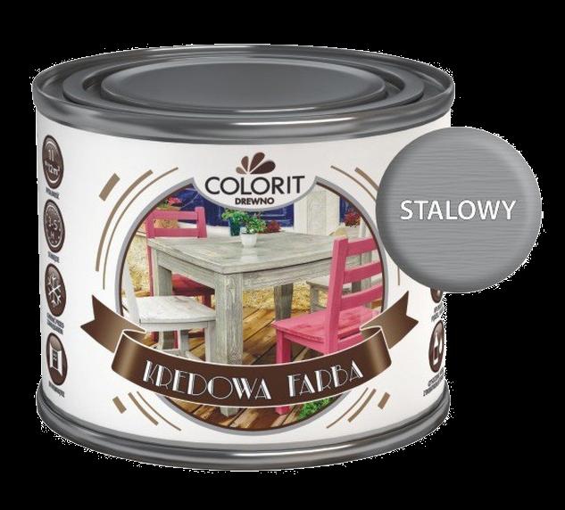 Colorit Kredowa Drewna 375ml Stalowy Mebli Farba Do