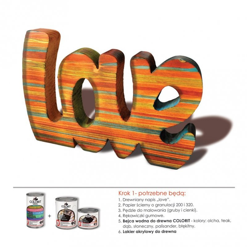 Colorit Lakier Akrylowy Drewna 375ml PÓŁMAT BEZBARWNY z filtrami UV do wewnątrz i na zewnątrz nieżółknący