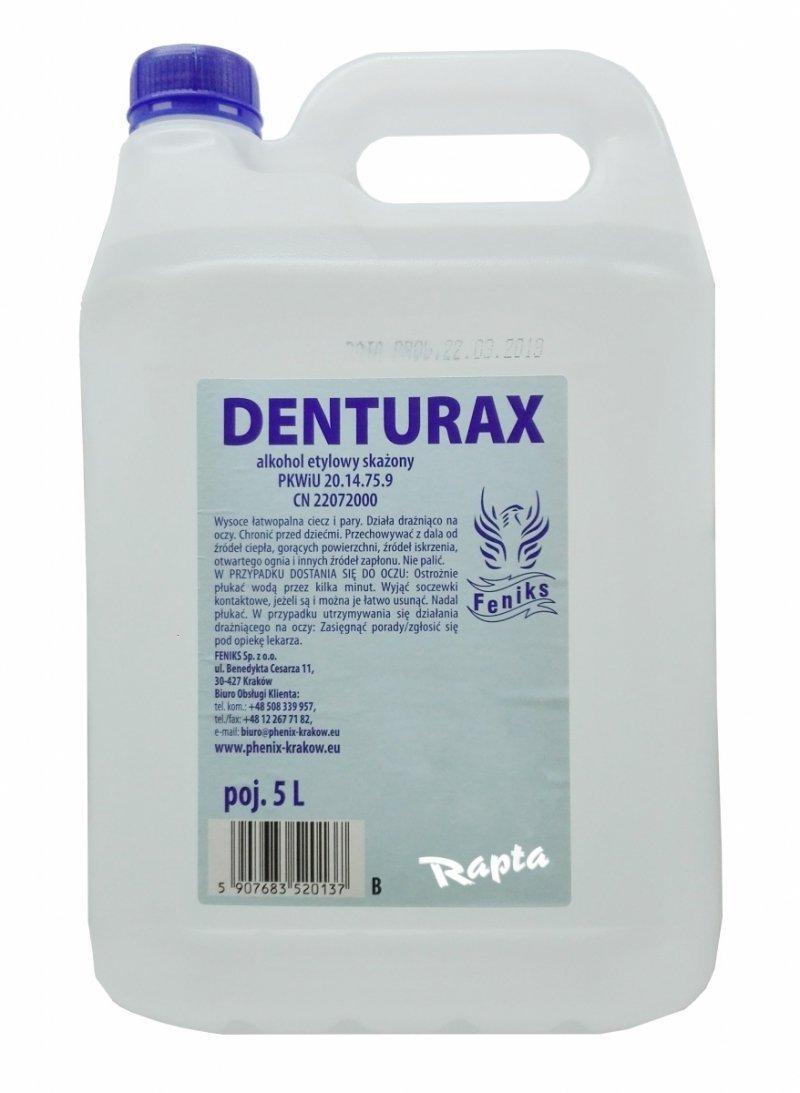 Etanol 90% Spirytus Alkohol Etylowy Denturax 5L Bezbarwny