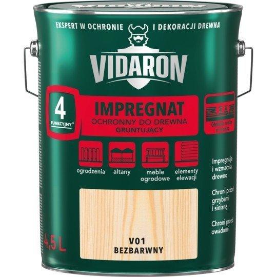 Vidaron Impregnat 4,5L V01 Bezbarwny Gruntujący Podkład Grunt