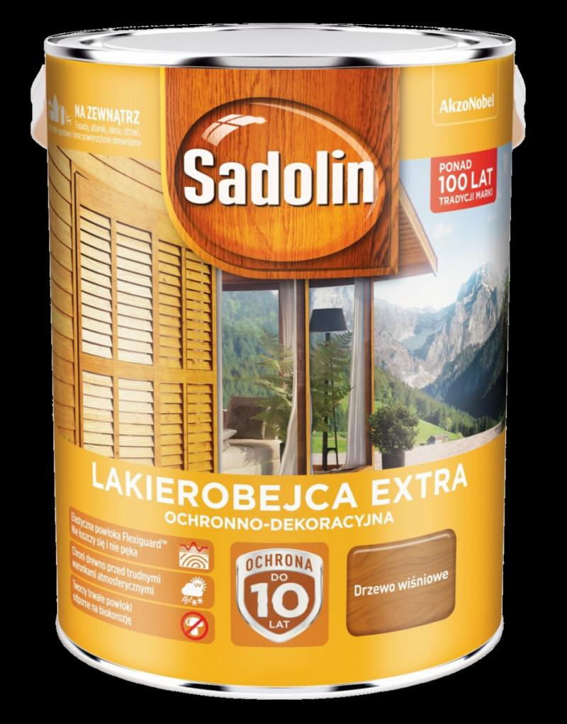 Sadolin Extra lakierobejca 5L DRZEWO WIŚNIOWE 88 drewna
