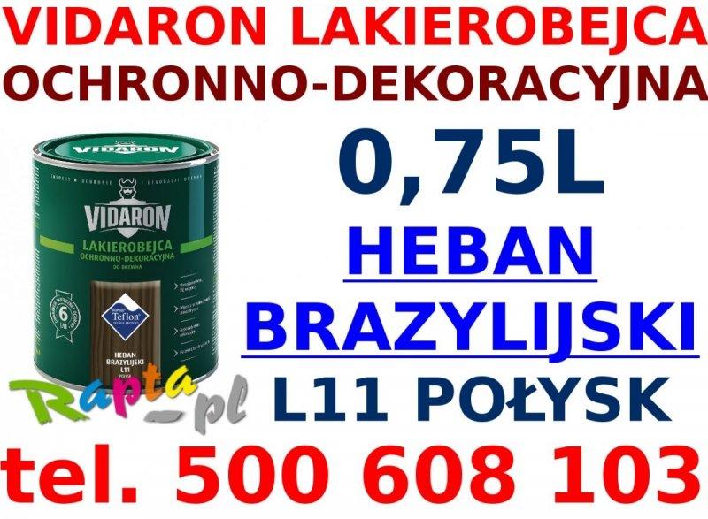 Vidaron Lakierobejca 0,75L L11 Heban Brazylijski do drewna