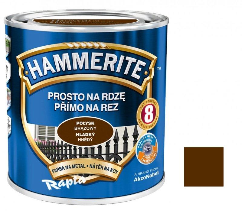 Hammerite Na Rdzę 2,5L BRĄZOWY POŁYSK hamerite farba