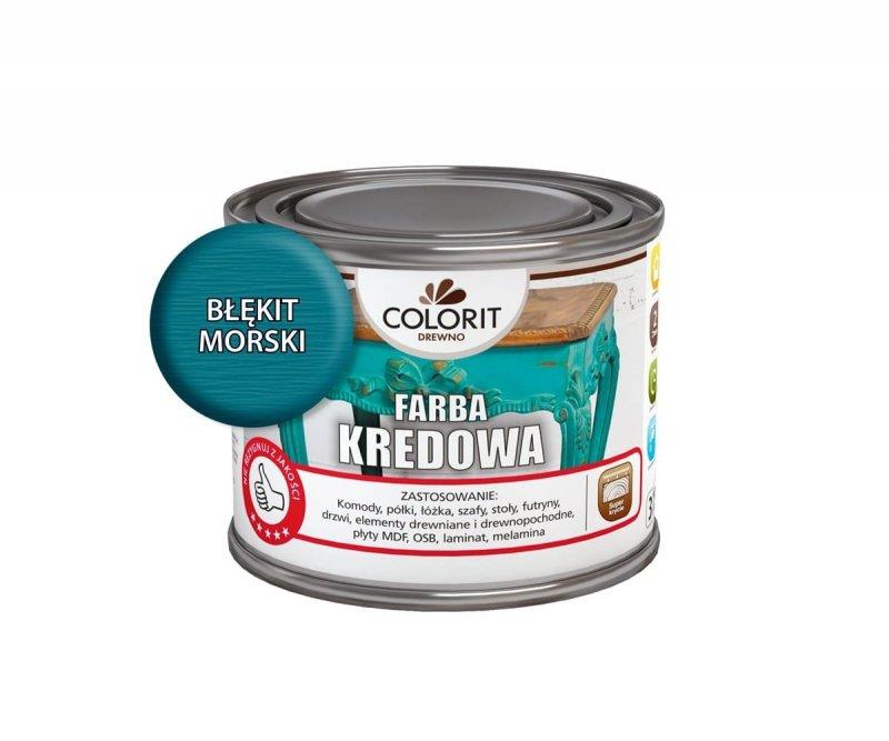 Colorit Kredowa Drewna 375ml BŁĘKIT MORSKI mebli farba do