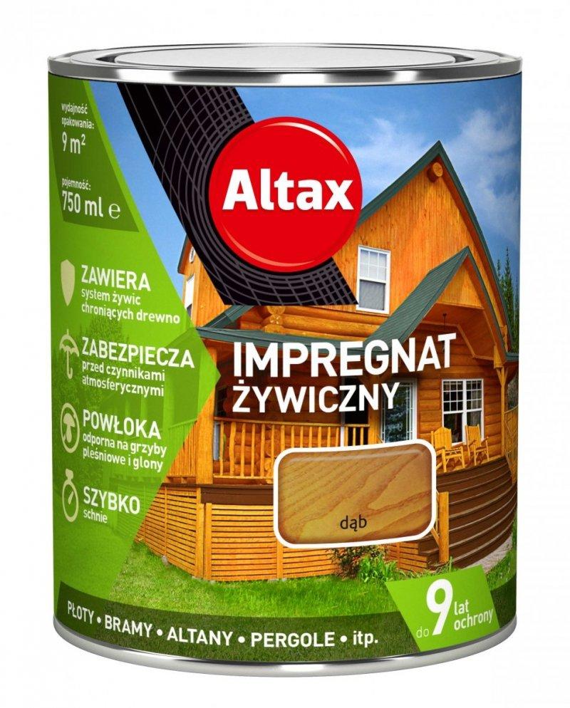 Altax Impregnat 0,75L DĄB Żywiczny Drewna Szybkoschnący