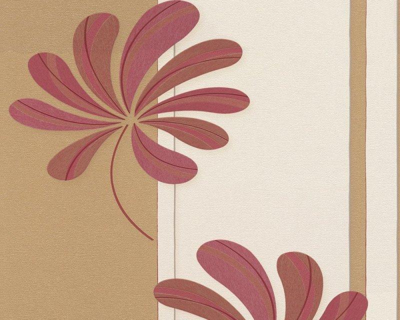 Tapeta 9223-59 Kwiaty Wzór Pasy winylowa na flizelinie AS Creation