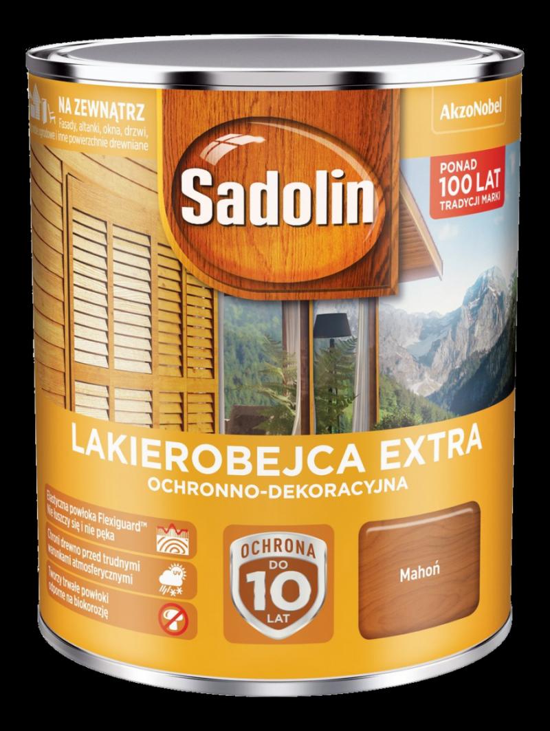 Sadolin Extra lakierobejca 0,75L MAHOŃ 7 drewna