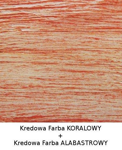 Colorit Kredowa Drewna 375ml KORALOWY mebli farba do