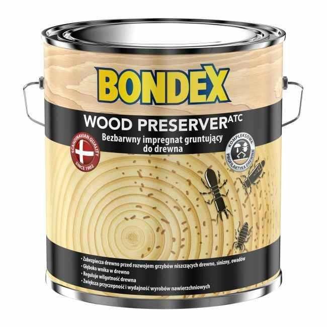Bondex Wood Preserver ATC Impregnat 2,5L Grunt-ujący do drewna