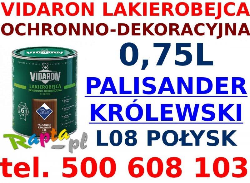 Vidaron Lakierobejca 0,75L L08 Palisander Królewski do drewna
