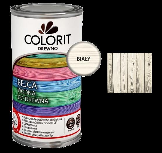 Colorit Bejca Wodna Do Drewna 0,5L BIAŁY 500ml do