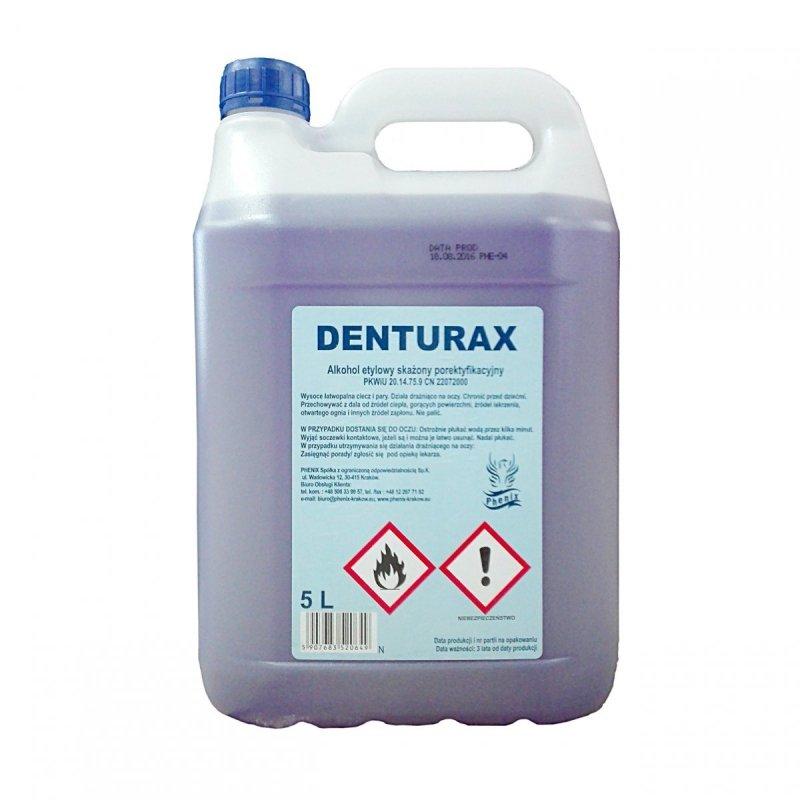 Denturax 5L denaturat fioletowy mocny  etylowy 89% etanol fiolet