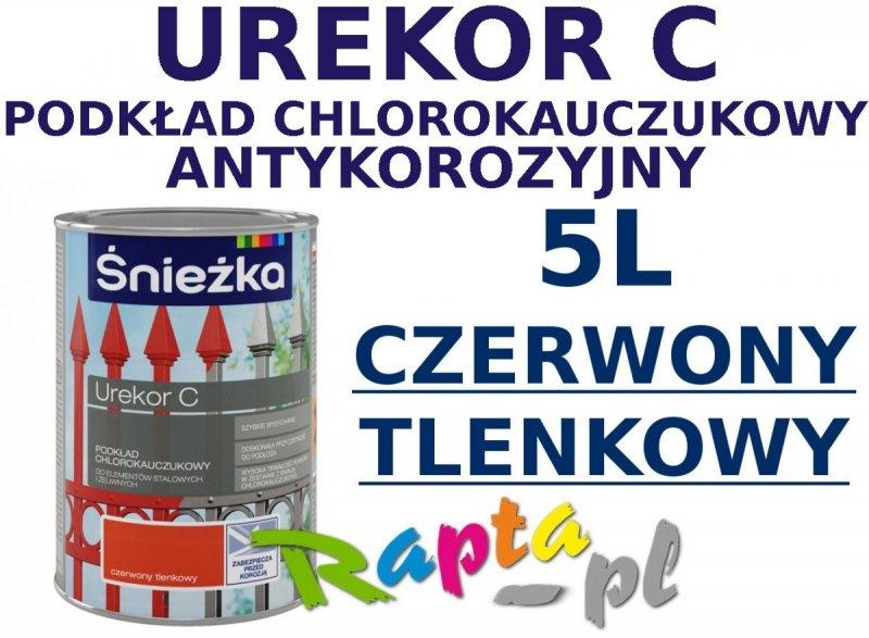 Śnieżka Urekor C 5L podkład chlorokauczukowy CZERWONY TLENKOWY