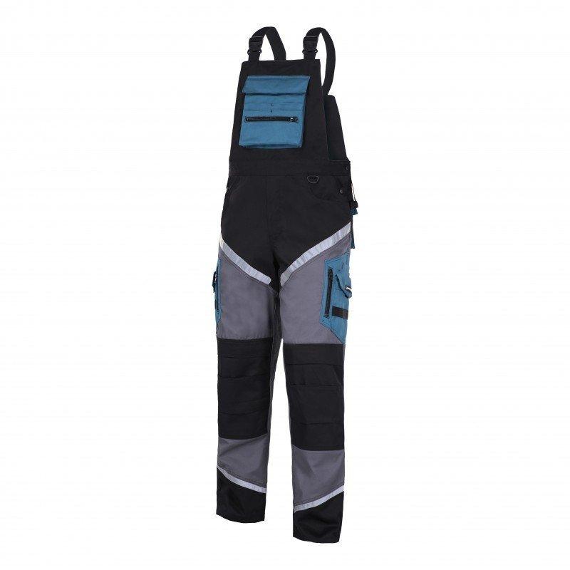 LAHTI PRO Spodnie robocze ogrodniczki ochronne 3XL odblaski