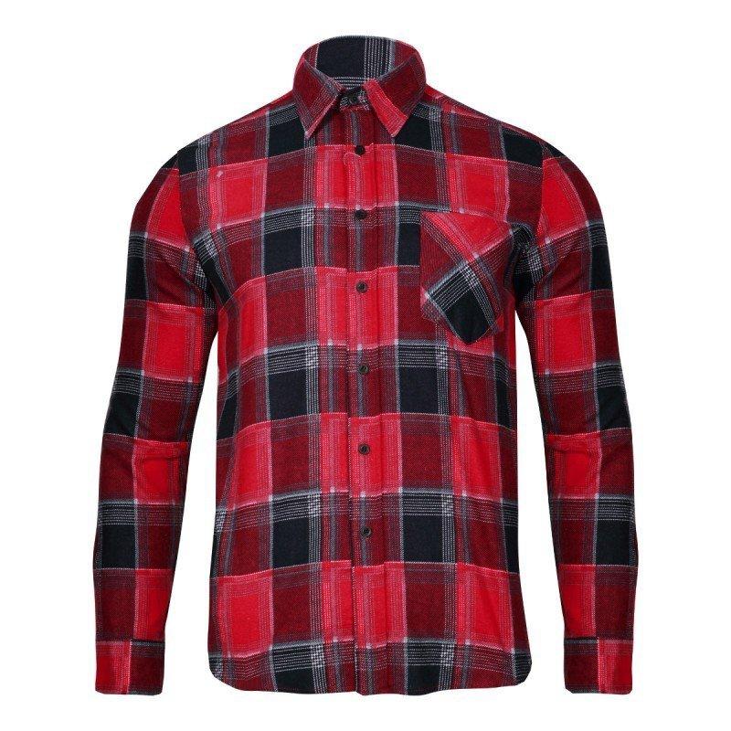 LAHTI PRO Koszula robocza flanelowa L krata 120g czerwona
