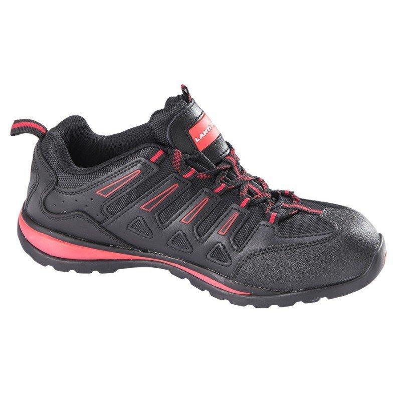 LAHTI PRO Pół-buty ochronne skóra tkanina 41 metal męskie robocze czarno-czerwone
