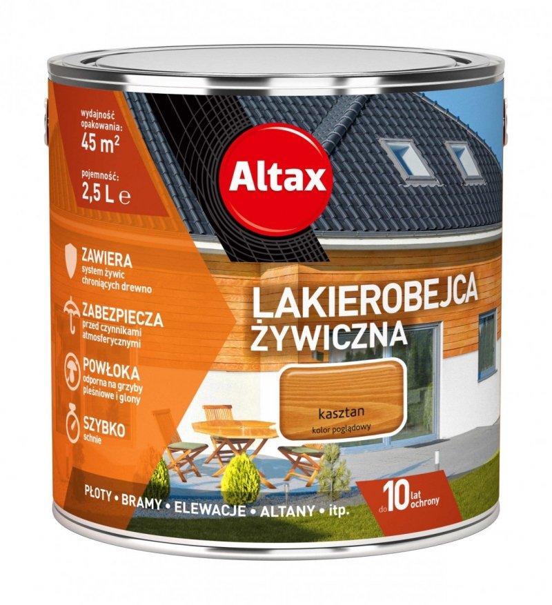 Altax Lakierobejca 2,5L KASZTAN Żywiczna Drewna Szybkoschnąca