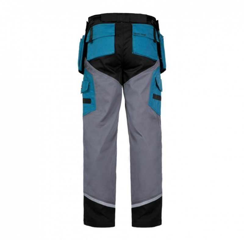 LAHTI PRO Spodnie robocze do pasa ochronne XL odblaski