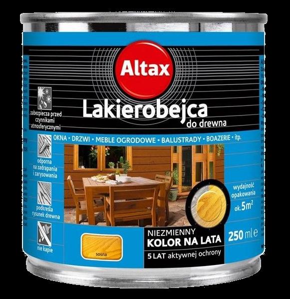 Altax Lakierobejca Drewna 0,25L SOSNA niebieska