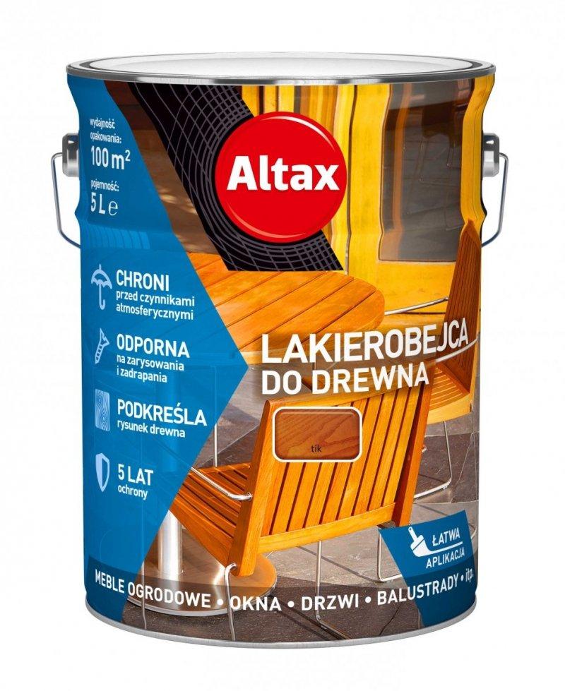 Altax Lakierobejca Drewna 5L TIK TEAK TEK niebieska
