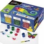 Farby Brokatowe Plakatowe 6 Kolorów 20ml Kidea dla Dzieci [FPB6KKA]