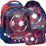Plecak Szkolny Piłka Nożna dla Chłopaka Zestaw [18-260FL]