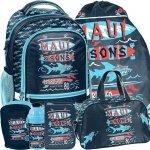 Mega zestaw Plecak Maui do Szkoły dla Chłopaków na Zajęcia Szkolne [MAUL-260]
