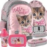 Szkolny Plecak Dziewczęcy z Kotem Kot Duży i Wygodny [PJC-116]