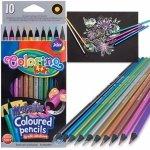 Kredki Metaliczne Colorino 10 Kolorów Ołówkowe Okrągłe [34678PTR]