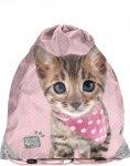 Worek z Kotem Kot na Obuwie Kapcie Wf [PJC-712]