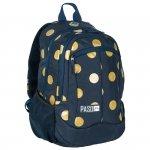 Plecak Młodzieżowy dla Dziewczyny Szkolny Granatowy w Złote Koła [17-2808UD]