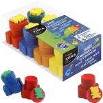 Farby do Malowania Palcami ze Stempelkami 8 Kolorów Kidea dla Dzieci [FDPS8KA]