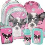 Plecak Szkolny Duży Zestaw w Pieski dla Dziewczyny [PTD-181]
