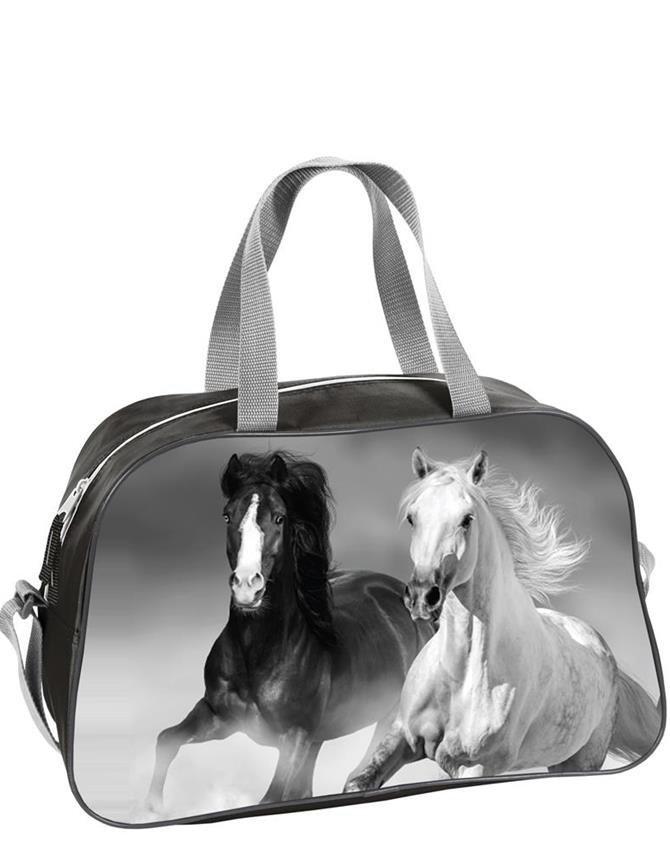 3951b7065ac01 Torba Sportowa Dziecięca z Koniem Koń dla Dziewczyny [18-074K ...