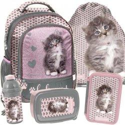 Plecak dla Dziewczyny do Szkoły Kot Kotek Szkolny [RLD-260]