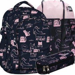 Plecak St.Right Młodzieżowy z Kotkiem Kotki Dziewczęcy [BP1]