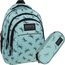 Plecak BackUp Młodzieżowy Szkolny Zestaw Ważki [PLB1H23]