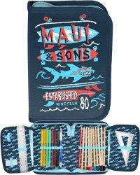 Piórnik Maui Sons dla Chłopaka Szkolny z Wyposażeniem [MAUL-001]