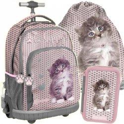 Plecak na Kółkach z Kotkiem Kot dla Dziewczynki [RLD-887]